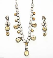 Crystal Silver Asian Jewellery Sets