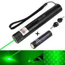 Powerful Laser Pointer Green 1mW 532NM Lazer Light Beam Burning +18650 Battery