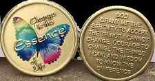 Change Is The Essence Of Life Color Butterfly Serenity Prayer Medallion Coin