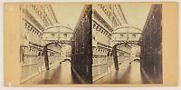 Foto A.Perini Pont Dei Sospiri Venezia Italia Stereo Vintage Albumina c1860