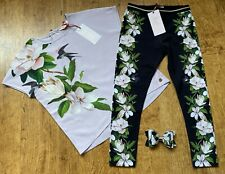 BNWT Ted Baker 7 years (6-7) top and leggings Elderflower with matching bow gift