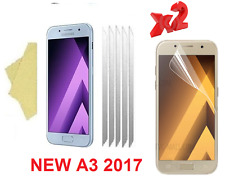 [2 PACK ] Clear Screen Protector Cover Guards For Samsung Galaxy A3 2017 (A320)