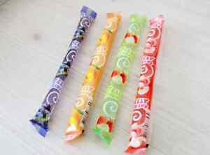 KIDSWELL JELLY STRAWS Assorted, 8, 20, 44, 68, 92ea, 4Flavor Natural Fruit