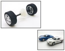 NEW Scalextric W8913 Rear Wheels Tyres Bearings Axle & Gear For Porsche Boxster