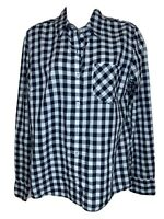 Patagonia Womens Blue Plaid Check Long Sleeve Button Down Shirt Sz 8