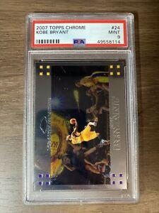 2007 Kobe Bryant Topps Chrome #24 PSA 9