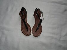 6a12957d66f WOMENS BP THONG SANDALS BLACK WITH GOLD SIZE 5 1 2 M
