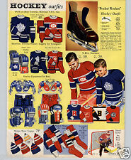1960 PAPER AD 2 PG NHL Hockey Toronto Maple Leafs Montreal Canadians Sweater ++