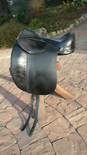 "Treeless Dressage Saddle- Heather Moffett Enlightened Equitation- 17 1/2"" Black"