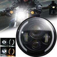 7 zoll LED Motorrad Scheinwerfer Projektor H4 Hi/Lo DRL Tagfahrlicht E-Geprüft