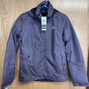 "New Adidas ""WANDERTAG INSULATED JACKET"" Women's Small Purple Hiking Climaproof"