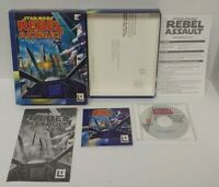 Star Wars Rebel Assault CD-ROM Game Windows PC Mint Disc Big Box Complete