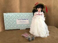"Coca Cola Nostalgia Madame Alexander 14"" Danbury Mint porcelain Doll white dress"