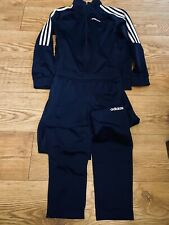 Adidas boys 11-12 Navy Track Suit