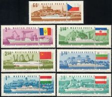 Hungary 1967 Danube Boats/Ships/Paddle-steamers/Ferries/Tugs/Transport 7v n44692