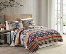 Wyoming 3-Piece Southwestern Geometric Tribal Printed Bedspread Quilt Set