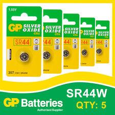 Gp oxyde d'argent bouton batterie 357 (SR44) carte de 5 [watch & calculatrice]
