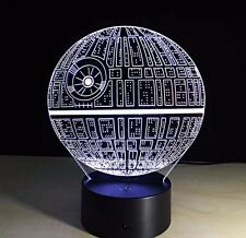 Death Star Star Wars 3D LED Night Light Lamp Touch Switch Table Desk Multicolor