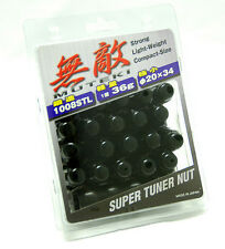 MUTEKI WHEEL LOCK LUG NUT 12x1.5 M12 P1.5 BLACK CLOSE END