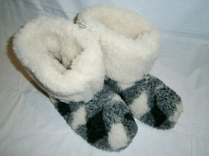 Super Warm Soft Comfy Home Slipper Boots 100% Wool Winter Footwear Mens Sizes