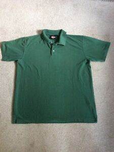 MENS Clothes Size XL Dickies Green Poly Cotton Short Sleeved Polo Shirt Top