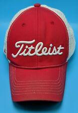TITLEIST FJ / Footjoy red / white adjustable cap / hat