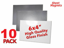 """10 PACK   6"""" x 4"""" (150mm x 100mm) Magnetic Photo   WHITE GLOSS   Magnetic Paper"""