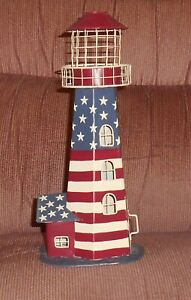 """12"""" Lighthouse Votive Candle Lamp Nightlight Nice From Kohl's Gently Used"""
