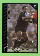 1995 NEW ZEALAND  ALL BLACKS RUGBY UNION CARD  #7  OLO  BROWN