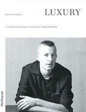 LUXURY Magazine Lucas Ossendrijver LANVIN Mehmet A Umberto Angeloni Virgil Abloh