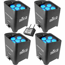 Chauvet DJ Freedom Par Tri-6 LED Lights (4-Pack) with FlareCon Air