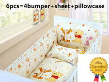 Disney Bear Pooh crib sheet baby bedding cot set 6pcs Nursery boy girl infant