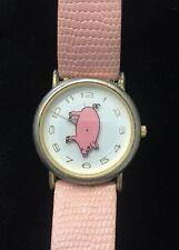 Fashion Wristwatch Pink Pig Women's Round