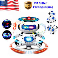 Toys for Boys Walking Dancing LED Light Robot Musical Kids Cool Baby Xmas Gift