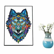 Adults Kids Toys Gift Magic Wolf Unique Shape Ideal Amazing Wooden Jigsaw Puzzle