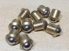 """10 x  3/8"""" 10mm  BRASS BALL BALL DOOR CATCH BULLET TYPE FRICTION SPRUNG CATCHES"""