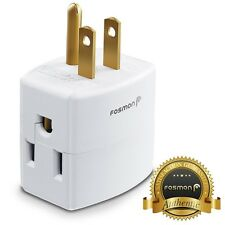 Fosmon [ETL Listed] 3 Outlet Indoor Power Wall Tap Adapter AC Mini Plug 3 Prong