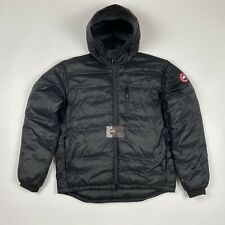 Canada Goose Lodge Jacket Black Large Hooded Down Coat