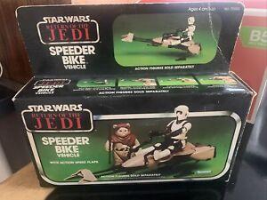 Star Wars Original Boxed; Speeder Bike Vehicle - Kenner 1983 Return Of The Jedi