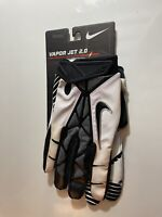 NEW Nike Vapor Jet 2.0 Football Gloves Black,White& Grey XXLarge SEE DESCRIPTION
