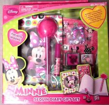 DISNEY MINNIE -SEQUIN DIARY- GIFT- SET-SEALED- NEW IN BOX SUPER CUTE