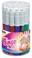 24 Tiger Assorted Bingo Markers Game Stationery Pens Dabbers Felt Tip Tub Ticket