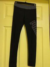Puma girls pants size M (8/10) good condition black/grey