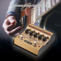 JOYO Portable Preamp DI Box Acoustic Guitar Effect Pedal 2-Band Balance Q9J1