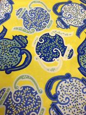 Fat quarter liberty mayfair théières en coton bleu quilting tissu-rowan fabrics