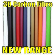 CARBON FIBRE textured 3D self adhesive roll vinyl car wrap 12 x A4 MIX COLOUR