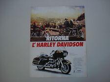 advertising Pubblicità 1981 MOTO HARLEY DAVIDSON FLT 1340