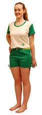 Genuine US Cheerleader Outfit Uniform Fancy Dress Clubbing Size XL Green Shorts