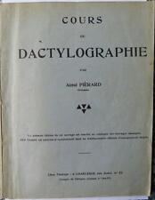 Cours de dactylographie par Aimé Piérard - 83 pages - édité à Charleroi ca 1950