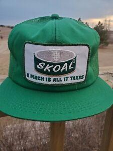 RARE Vintage Skoal Snapback Trucker Hat Meshback USA Kbrand